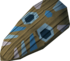 Tribal mask (blue) detail