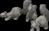Basic squirrel statue