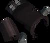 Broken cannon furnace detail