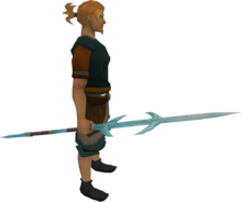 Crystal staff equipped