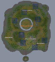 Mossy rock spawn location (overview)