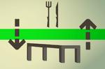 Oak dining table (flatpack) detail