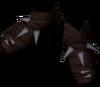 Shaman's moccasins detail