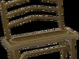 Carved teak bench