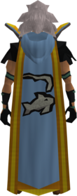 Retro hooded fishing cape (t) equipped