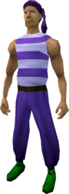 Bandana (purple) equipped