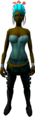 Feather headdress (charged) (red) equipped.png