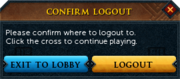 Log out button