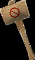 Off-hand ban hammer detail