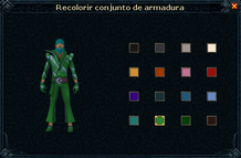 Roupa de super boate interface de recolorir