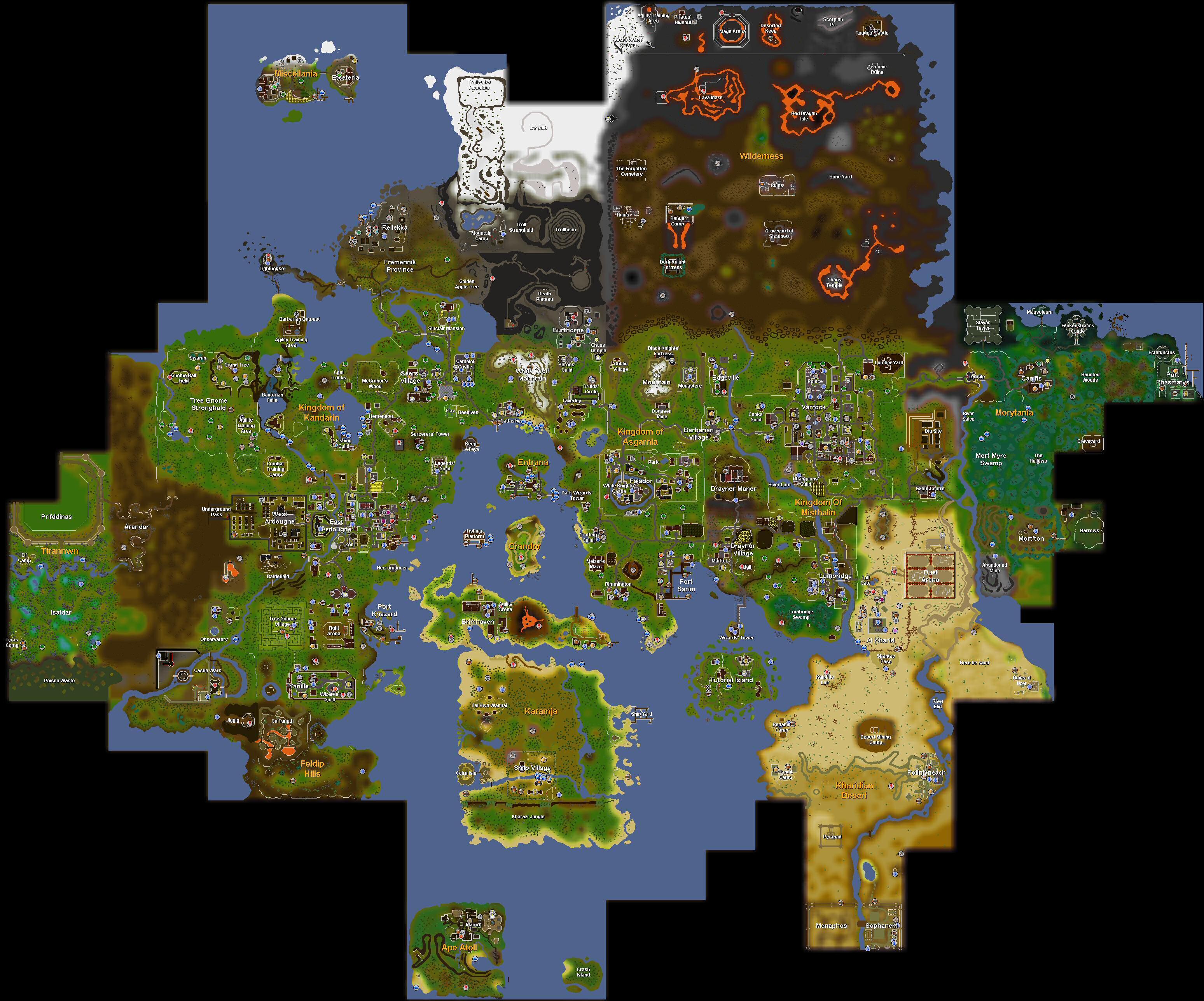 World map/History | RuneScape Wiki | FANDOM powered by Wikia