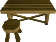Wooden workbench built