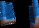 Blue corner key detail