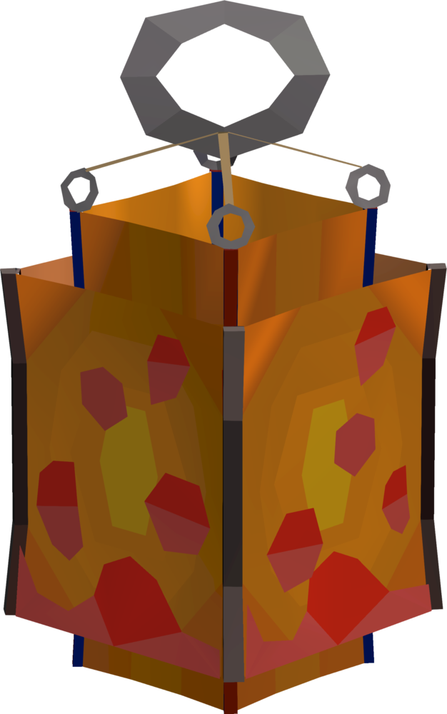 Large lava lantern detail