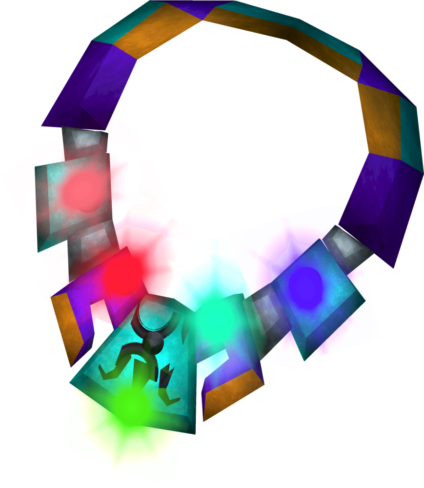 Luminous alchemist's amulet (charged) detail