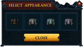 Master camouflage outfit recolour interface
