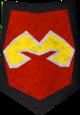 Rune kiteshield (Zamorak, heraldic) detail