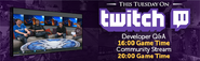 Tuesday Developer QA Twitch lobby banner