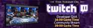 Tuesday Developer QA Twitch lobby banner