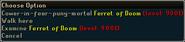 Ferret of Doom right click options