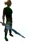 Ice Sword equipped