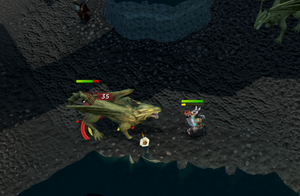 Killing brutal green dragons