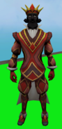 Outfit of Diamonds (male) equipped