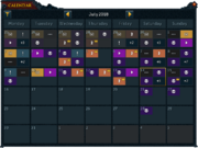 Calendar interface