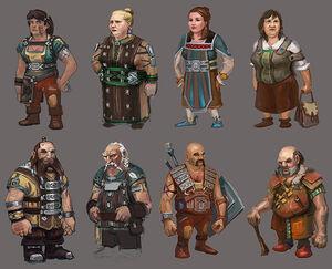 Common Dwarves concept art