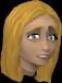 Frightened girl chathead