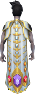 Gem cape equipped
