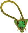 Sparkling four-leaf clover necklace detail
