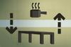Wood kitchen table (flatpack) detail