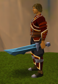 Off-hand rune ceremonial sword V equipped