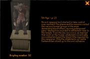 Werewolf in museum