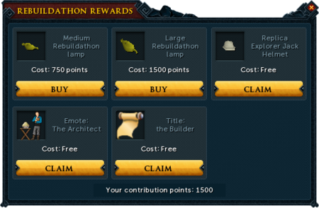 Lumbridge Rebuildathon P2P rewards unlocked