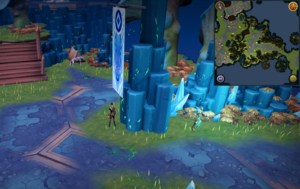 Scan clue Heart of Gielinor next to Helwyr banner in Seren Encampment
