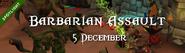 Barbarian Assault 5 December 2015