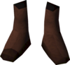 Colonist's shoes (purple) detail