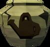 Cracked farming urn detail