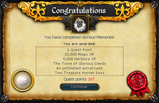 Glorious Memories reward
