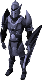 Mithril armour set (lg) equipped