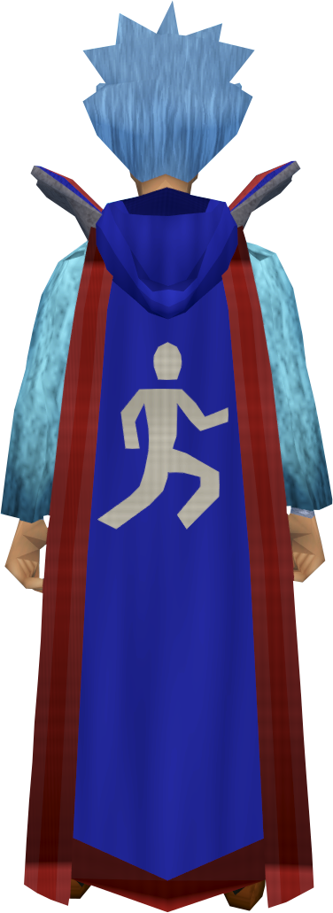 Retro hooded agility cape (t) equipped