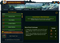 Rival challenges interface