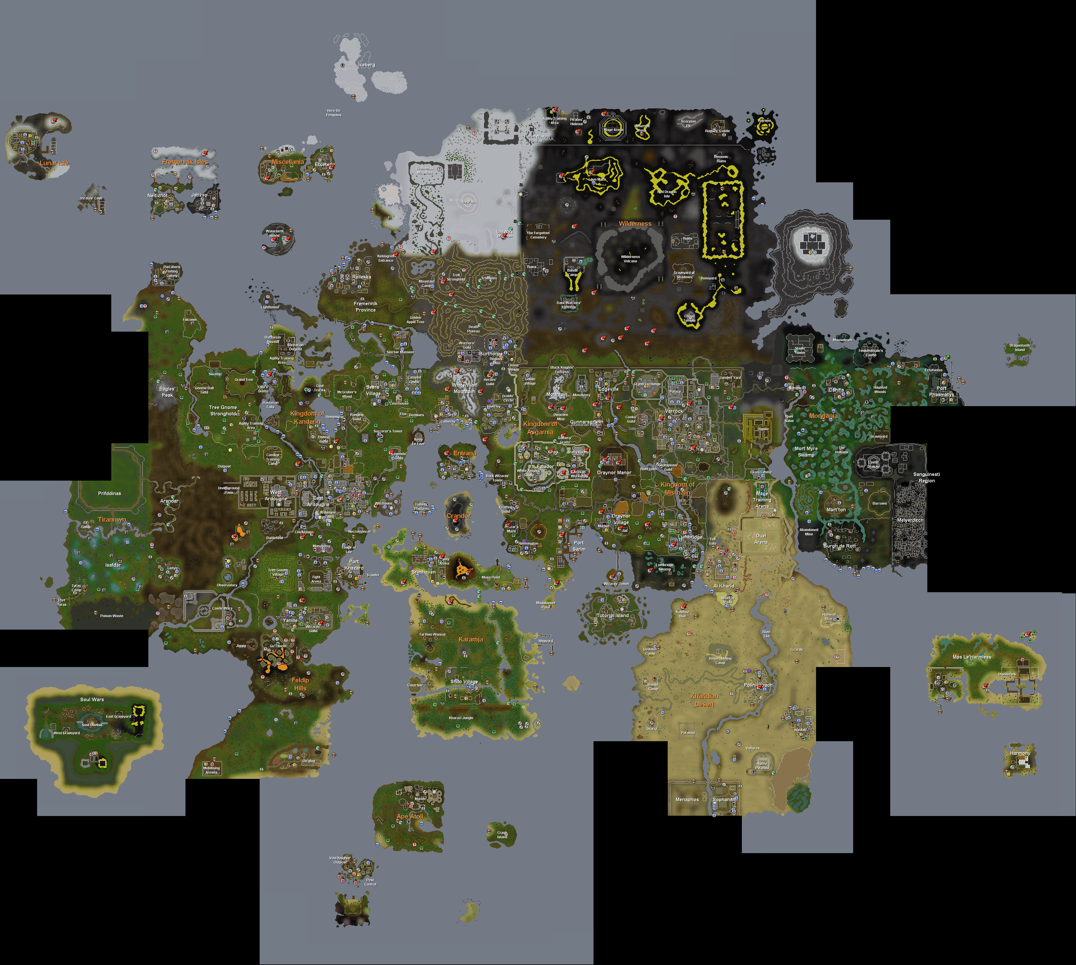 Image rs world map 11g runescape wiki fandom powered by rs world map 11g gumiabroncs Gallery