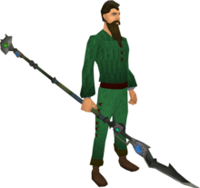 Augmented Guthan's warspear equipped