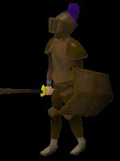 Bronze Armour Pose