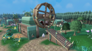 Cow-powered windmill