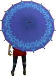 Dwellberry parasol equipped