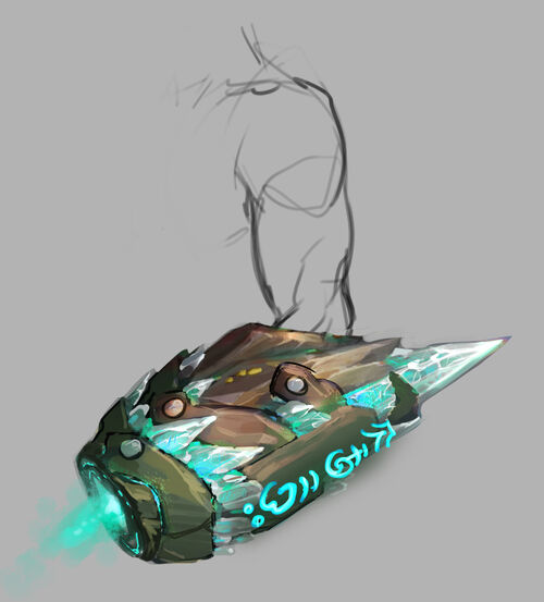 Energised arm cannon concept art